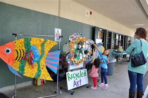 recycled crafts special day celebrations evergreen elementary celebrates earth day in bar