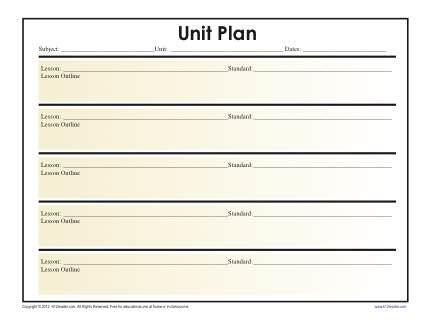 unit lesson plan lesson plan template pinterest lesson plan