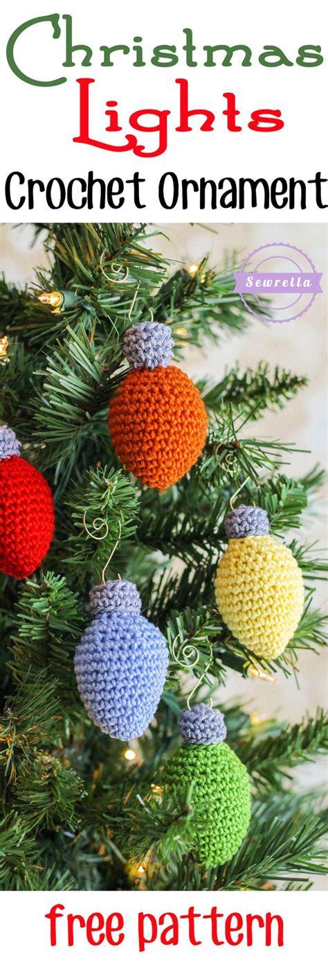 free pattern knitted christmas lights 30 wonderful diy crochet christmas ornaments