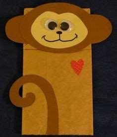 monkey paper bag puppet template preschool animal crafts printable animal masks craft