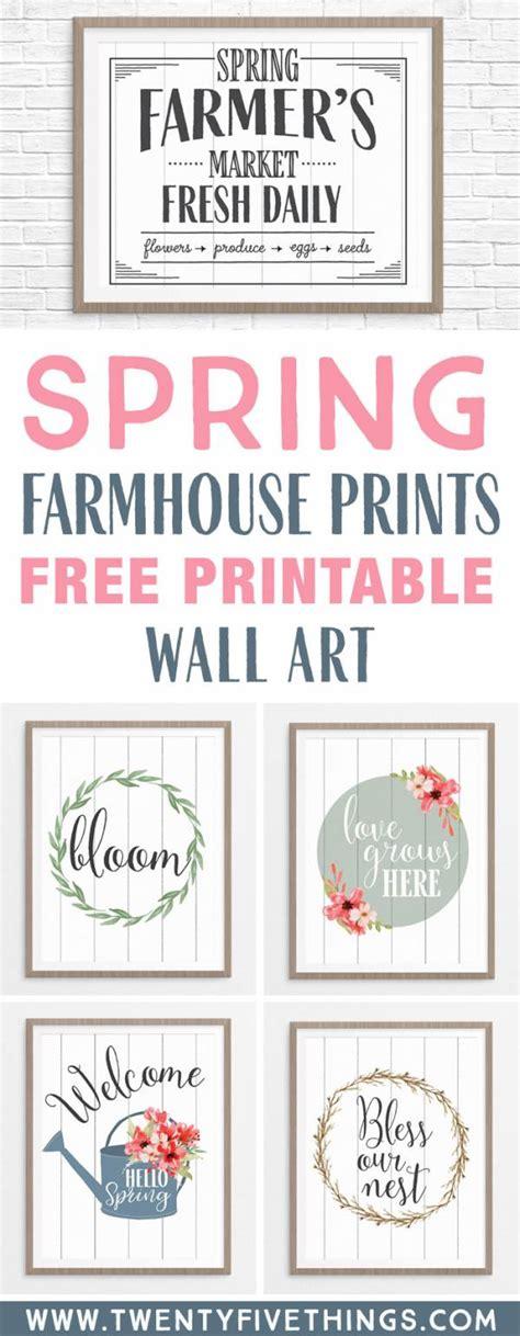 printable spring wall art farmhouse style prints scrap