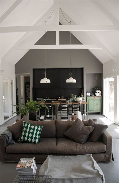 High Vaulted Ceiling by High Ceiling Exposed Beams Remodeling Ideas