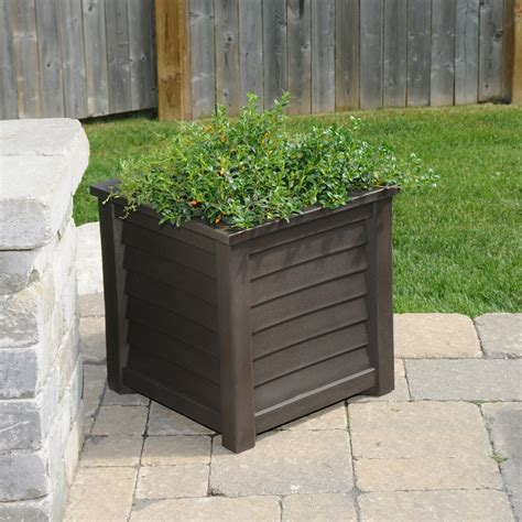 Square Outdoor Planter by Mayne Lakeland Square Patio Planter In Black Express Or