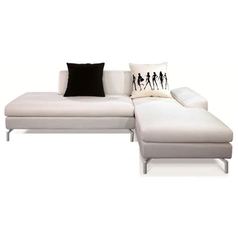 cream sectional with chaise bosnia sectional sofa cream white fabric right facing
