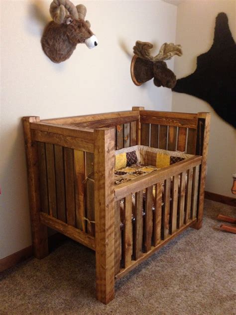 Baby Crib by Rustic Baby Crib And Lodge Bedroom Reclaimed To