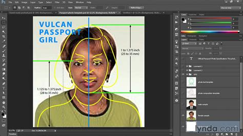 us green card photo template creating the passport photo photoshop lynda