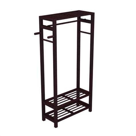 Shoe Rack Coat Stand by Wood Coat Shoe Garment Rack Hat Stand For Hallway Or