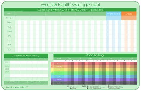 bipolar mood amp health management chart bp naturally