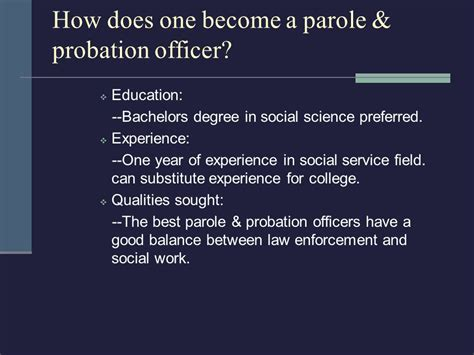Can You Become A Probation Officer With A Criminal Record Education For Probation Office Best Resumes