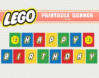 Happy Birthday Lego Clip Art 5 Lego Happy Birthday Banner Template