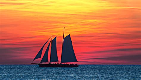 Late Sunset Sail Boat Sunset Related Keywords Suggestions For Sailboat Sunset