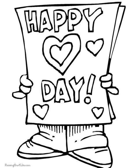 happy valentine coloring page free coloring pages of kindergarten valentine s day