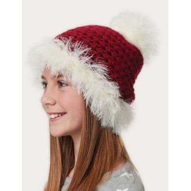 fur pattern free pick fur trimmed hat in bernat softee chunky holiday crochet
