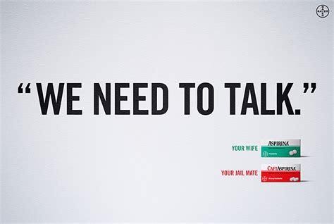 To Talk by Aspirin Bayer Cafiaspirin Print Advert By Bbdo We Need