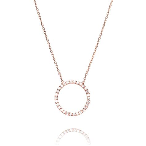 ingenious gold necklace with open pave pendant