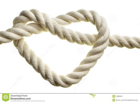 heart shape rope stock image image  cotton rope knot