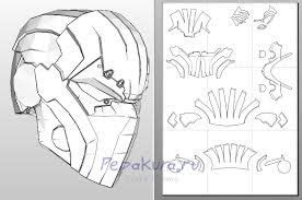 tutoriel latex head starting my pepakura deathstroke helmet stage 1 download