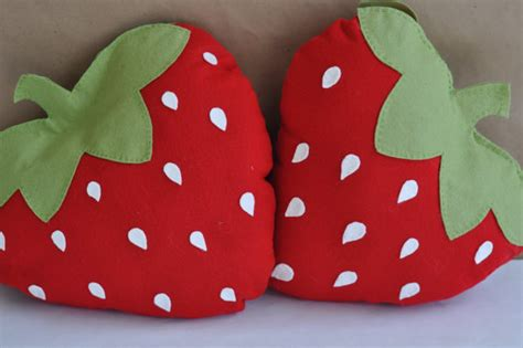 strawberry pillows strawberry pillow on luulla