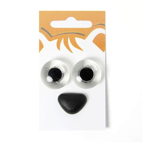 yeux d animaux nez d animaux kit 4 boutons blancs
