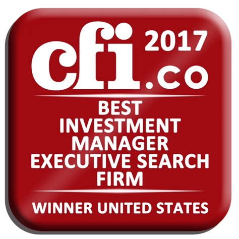 Asset Management Executive Search Based Cfi Co Announces Mack International As Winner
