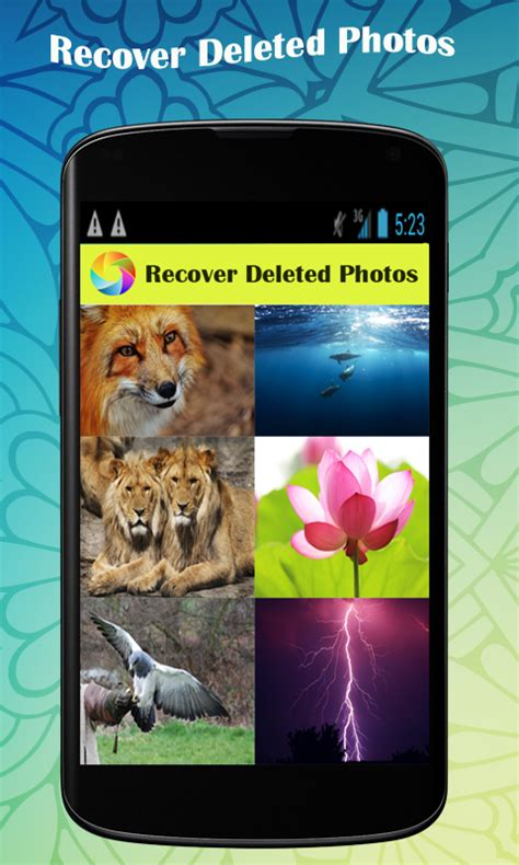 recover deleted pictures android free recover deleted photos free android app android freeware