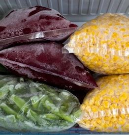 freezing vegetables from your garden