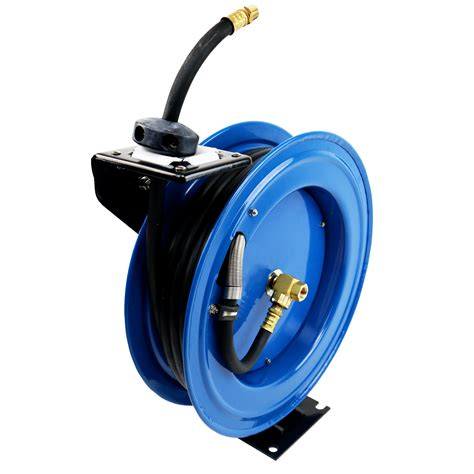50ft 15m retractable 3 8 air line compressor hose reel 163 64 99 oypla the