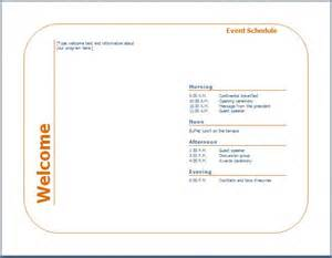 program templates for events generic event program template formal word templates