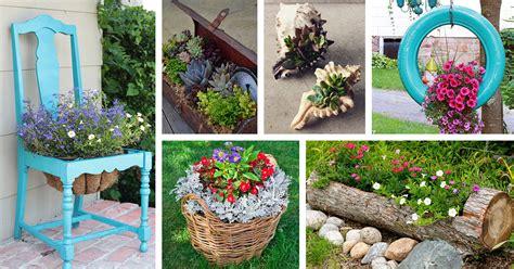 creative garden container ideas  designs