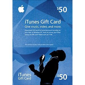 Itunes Gift Card 50 For 40 - non car part itunes gift card 50 00 credit for 40 00 shipped