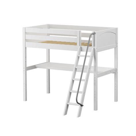 Maxtrixkids Knockout1 Wp High Loft W Angle Ladder Ladder Desk White