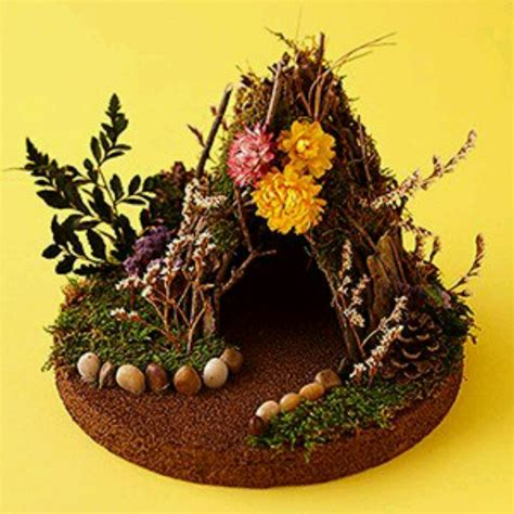 diy fairy house diy fairy house for bee s garden backyard pinterest