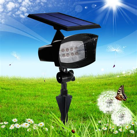 8led Solar Powered Led Wall Lights Outdoor Lighting Flag Garden Flag Pole With Solar Light