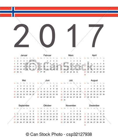 norway design kalender vectors of square norwegian 2017 year vector calendar