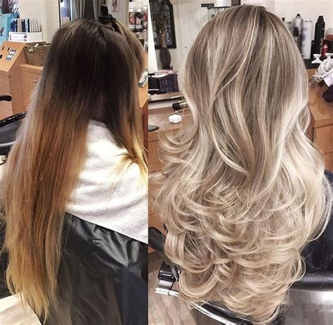 blonde foil highlights brown hair hairs picture gallery 48 best grey hair images on pinterest hair color blonde