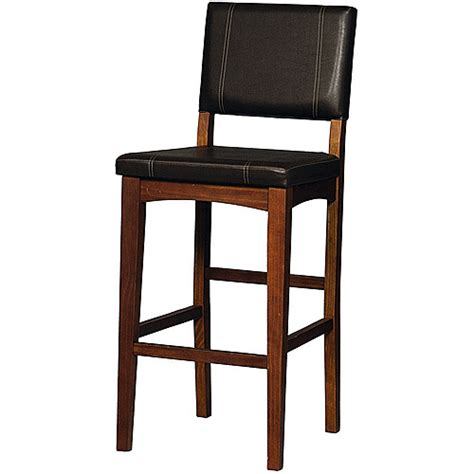 Linon Bar Stool by Linon Bar Stool Brown 30 Inch Seat Height