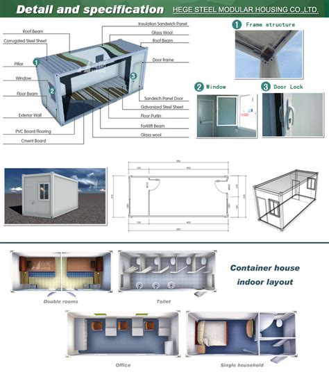 China Prefabricated 40ft Container Home/flat Pack