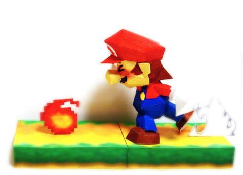 Mario Papercraft - mario 64 nintendo papercraft