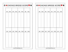 printable chicago bridge scoresheet