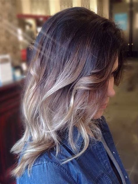 photos of blonde highlights with dark roots 31 balayage highlight ideas to copy now pinterest