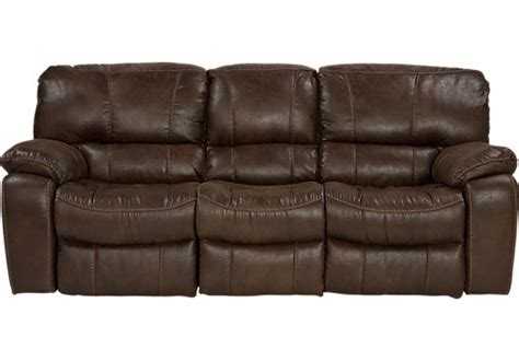 rooms to go reclining sofa cindy crawford home alpen ridge brown reclining sofa