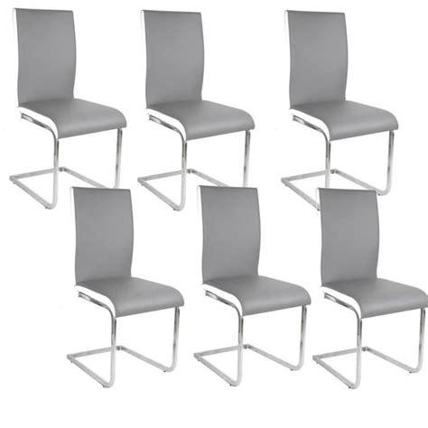 lot de 6 chaises blanches lea lot de 6 chaises de salle 224 manger blanches grises