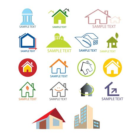 28 house logo design vector free vectors