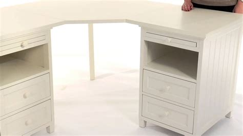 white beadboard desk maximize corner space with the beadboard basic corner desk