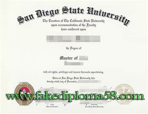 San Diego State Mba Human Resources Major by Buy San Diego State Sdsu Master Degree