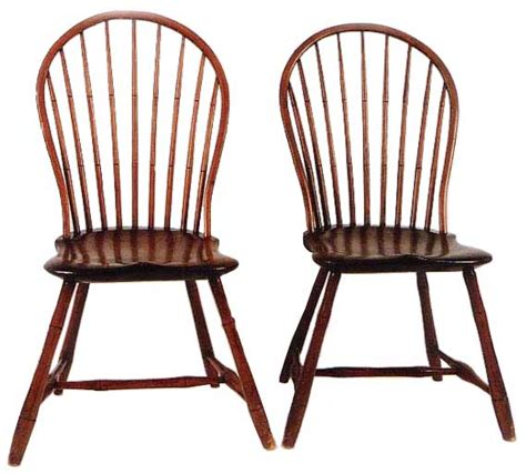 american bow back chair pair of 18th century american bow back branded w