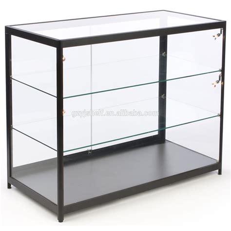glass sliding door display stand glass shelf dvd wall