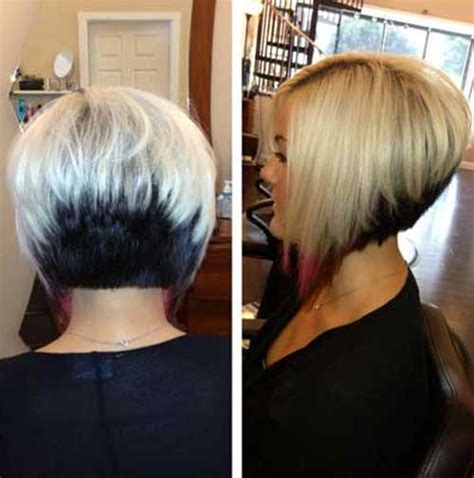 inverted two tone blonde bob style 2015 inverted layered bob with bangs pics short hairstyle 2013