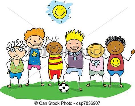 imagenes de niños jugando con sus amigos ilustraciones vectoriales de poco amigos dibujo de