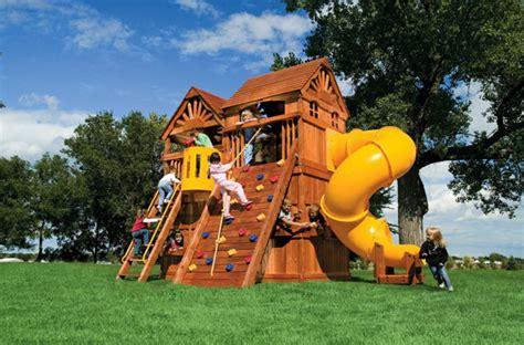 best backyard play structures small yard play structures swing set rainbow systems